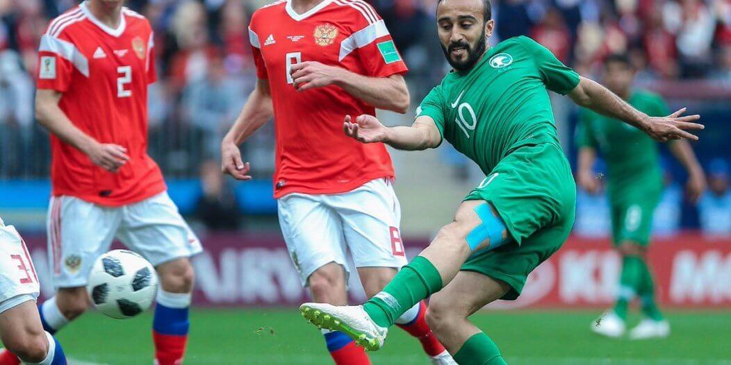 بالفيديو .. هدفا الشوط الأول من مباراة السعودية وروسيا