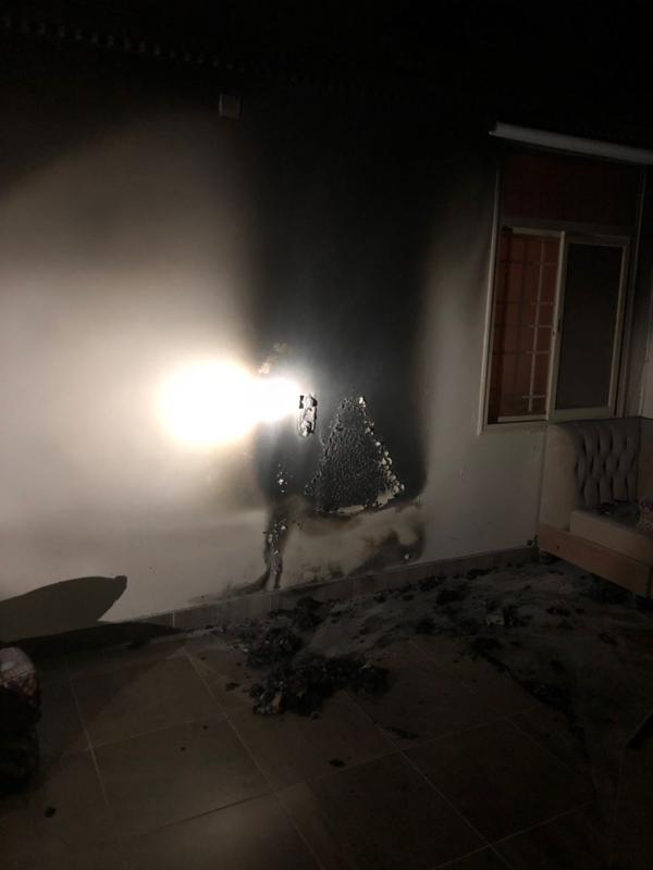 بالصور.. حريق في شقة بأبها بسبب شاحن جوال - المواطن