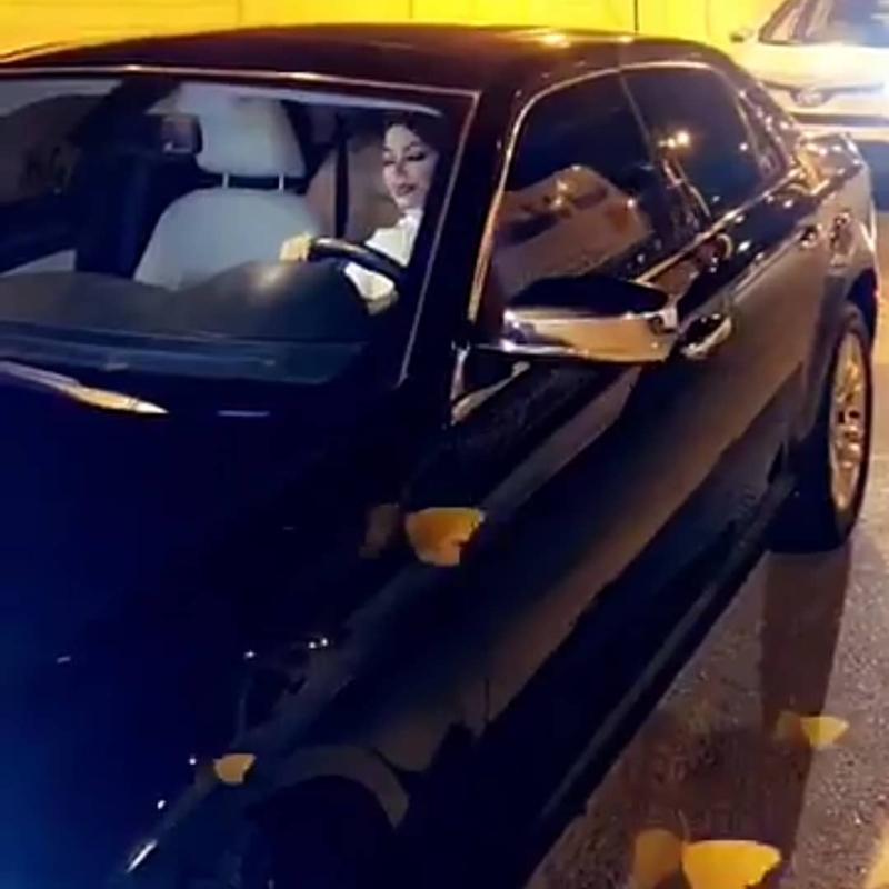 شيرين الرفاعي تتوعد منتقدي مقطع قيادة السيارة
