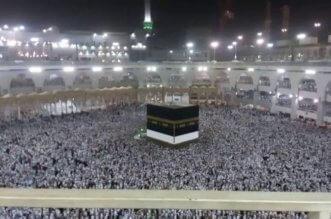 مشهد مهيب.. توقف الحركة بصحن المطاف ليلة 27 رمضان - المواطن