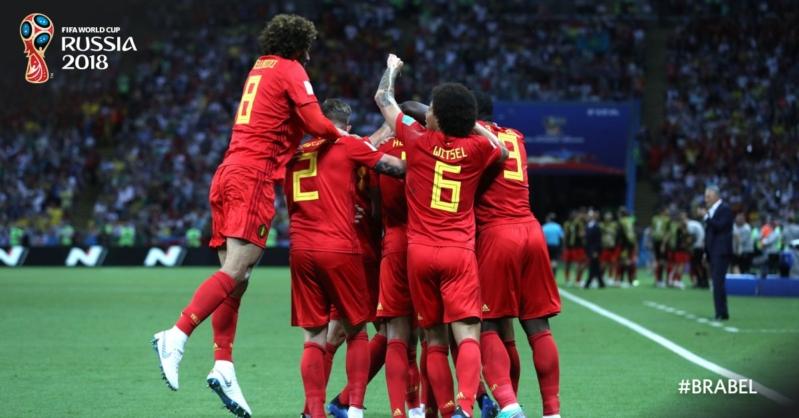 بلجيكا تتقدم على البرازيل بالنيران الصديقة