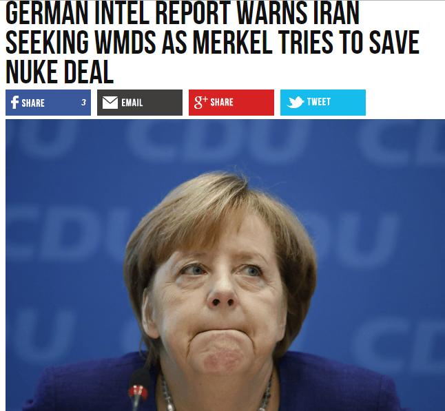 وثائق استخباراتية تحرج ميركل: إيران تسعى لأسلحة الدمار الشامل رغم اتفاقها النووي - المواطن
