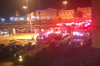 بالصور.. حريق فندق في شرورة يصيب 12 شخصًا باختناق - المواطن