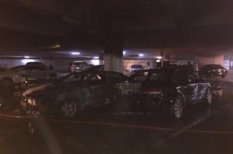 احتراق سيارة وتضرر مركبتين بأحد مواقف مطار الملك خالد - المواطن