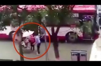 بالفيديو..راكب يوقف حافلة لإعطاء مظلة لشخص من ذوي الاحتياجات - المواطن