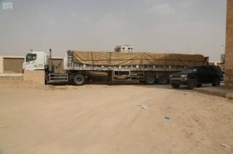 وصول 6 شاحنات مقدمة من مركز الملك سلمان للإغاثة تحمل تجهيزات ومستلزمات مدرسية إلى مأرب