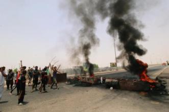 بالصور.. إصابة 25 عنصراً أمنياً في تظاهرات ذي قار بالعراق - المواطن