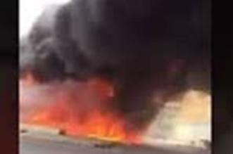 لحظة احتراق محطة وقود بحي النظيم في الرياض - المواطن