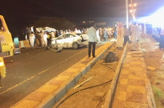 بالصور.. تصادم 4 سيارات في الحرجة يخلف وفاتين و7 إصابات - المواطن