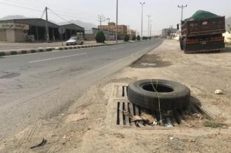 بالصور.. هبوط قناة لتصريف مياه الأمطار يهدد حياة المارة بترقش محايل - المواطن
