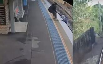 بالفيديو.. مسن يسقط أمام القطار وهكذا تم إنقاذه - المواطن