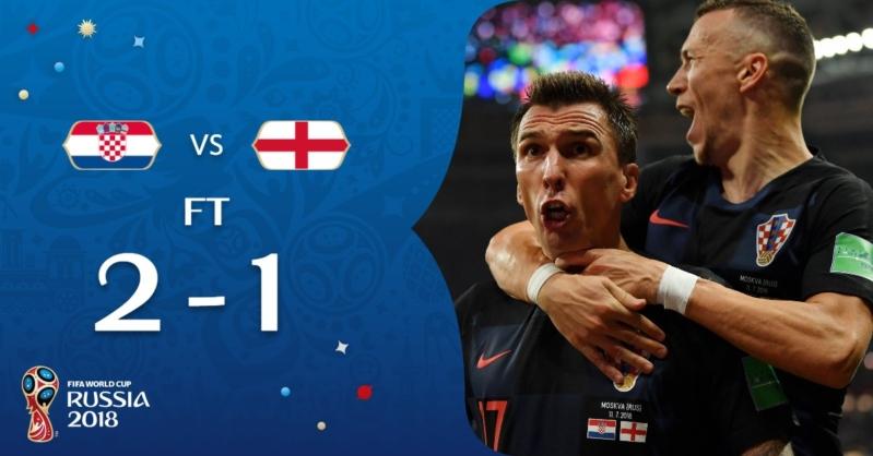 Croatia تُحطم أحلام إنجلترا .. وتتأهل لنهائي المونديال الروسي