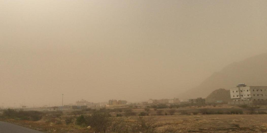 بالصور.. غبار كثيف يضرب محافظات عسير والحرارة تلامس 40 درجة مئوية