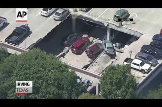بالفيديو.. انهيار جراج يتسبب بتضرر 20 سيارة في أمريكا - المواطن