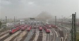 شاهد.. عاصفة تطيح بسقف محطة قطارات ألمانية - المواطن