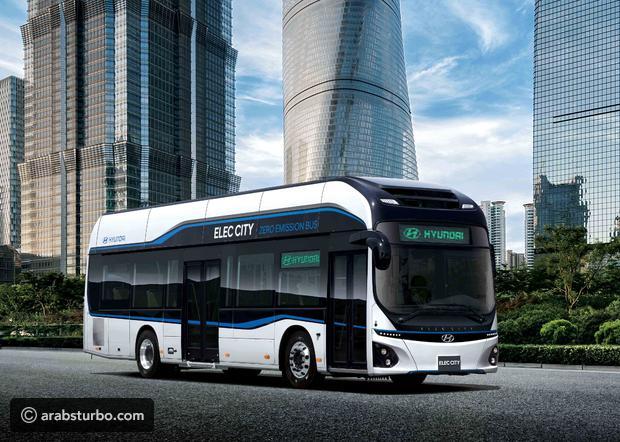 بالصور.. هيونداي تكشف عن حافلاتها الكهربائية العاملة بالهيدروجين