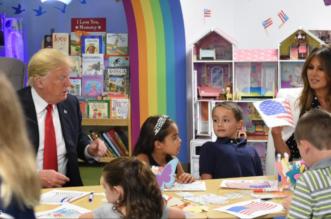 بالصور.. خطأ فادح لترامب بحضور الأطفال - المواطن