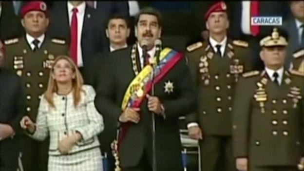 بالفيديو.. لحظة استهداف رئيس فنزويلا.. هكذا أنقذه الحرس