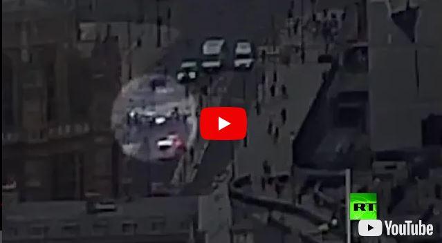 شاهد.. لحظة تنفيذ حادث الدهس الإرهابي في لندن