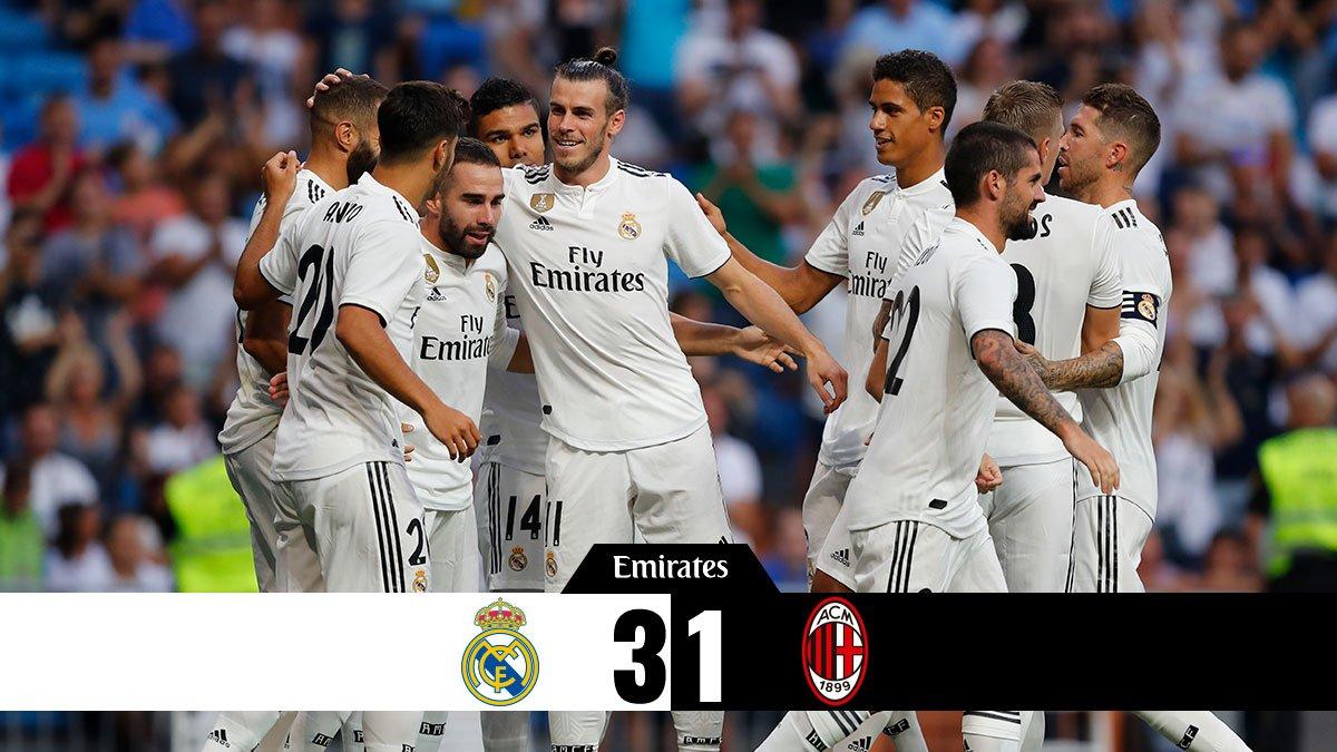 شاهد .. Real Madrid يجرح كبرياء ميلان بثلاثية نارية وديًا