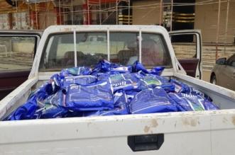 بالصور.. ضبط 650 كغم من الأرز الفاسد قبل بيعها في مستودع شهير بالمسارحة - المواطن