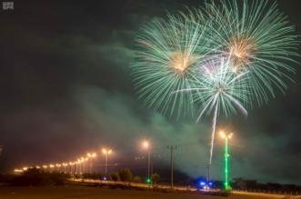 الألعاب النارية تضيء سماء نجران احتفالاً وابتهاجاً باليوم الوطني الـ 88 للمملكة 6