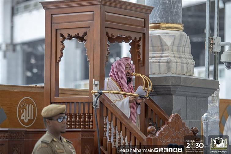 السديس في خطبة الجمعة: المملكة ماضية بكل ثقة في نُصرة قضايا المسلمين وخدمة الحرمين الشريفين