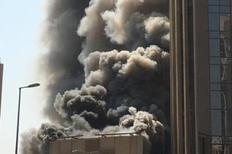 حريق كبير في أحد أبراج العاصمة الكويت - المواطن