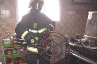 حريق في منزل بحي العزيزية يصيب مواطنًا والمدني يسيطر - المواطن