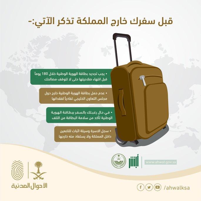 إنفوجرافيك.. 4 نقاط يجب تذكرها جيدًا قبل السفر خارج المملكة