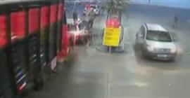 شاهد.. رجل يحاول إشعال النار في محطة وقود! - المواطن