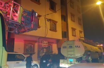 إخلاء 12 سيدة و10 أطفال بسبب حريق شقة في خميس مشيط - المواطن