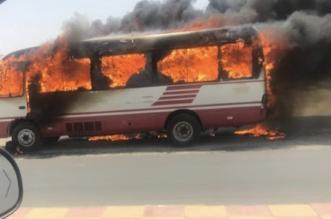 مدني عسير يكشف تفاصيل اشتعال حافلة مدرسية بالحرجة - المواطن