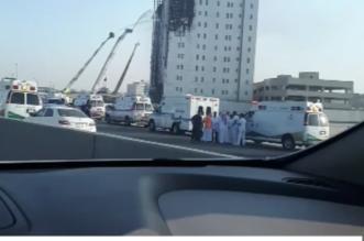 ٦ سيارات إسعاف تباشر حريق النيابة العامة في الدمام - المواطن