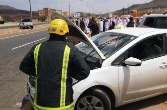 حادث لـ5 سيارات أمام جامع راحة سنحان والسبب تجاهل المسؤولين! - المواطن
