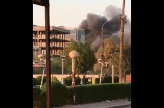 حريق في مبنى محافظة البصرة بعد رفع حظر التجول - المواطن