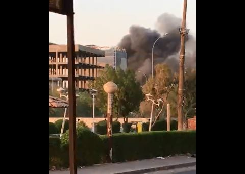 حريق في مبنى محافظة البصرة بعد رفع حظر التجول