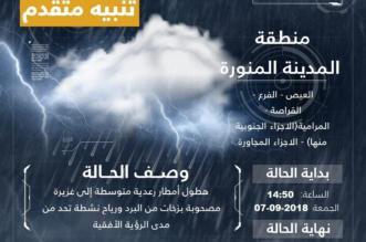 أمطار متواصلة على المدينة المنورة حتى السابعة مساء - المواطن