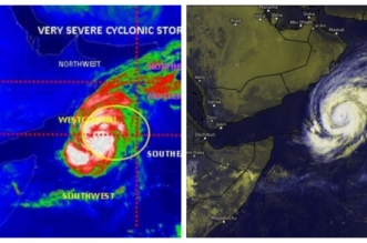 الأرصاد تحذر: العاصفة المدارية لبان تتحول إلى إعصار في بحر العرب - المواطن