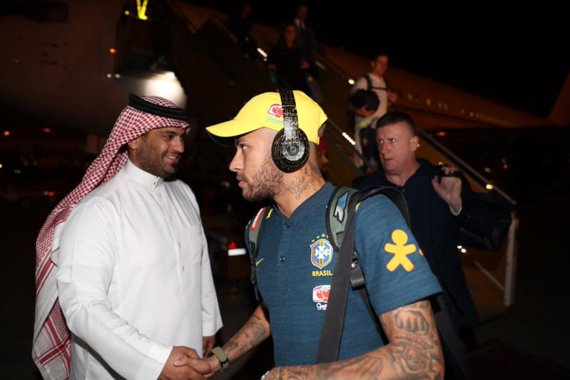 المنتخب البرازيلي يصل الرياض