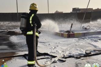 انفجار لحظي للأبخرة يسبب حريقًا في خزان محطة وقود بسكاكا - المواطن