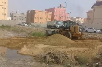 ردم مستنقعات مطار جازان1