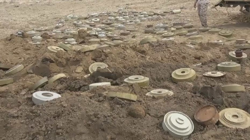 حملة للجيش اليمني لتطهير مناطق محررة من ألغام المليشيات الحوثية