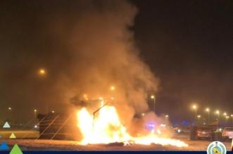 عبث الأطفال يحرق خيمة في أرض فضاء بالنعيرية - المواطن