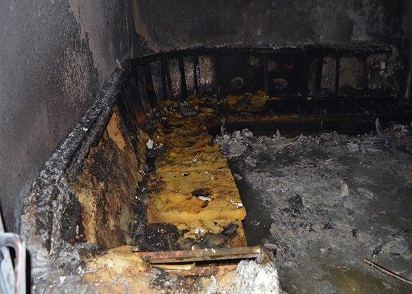صور.. إصابة 14 بينهم 10 أطفال في حريق قاعة أفراح بتبوك