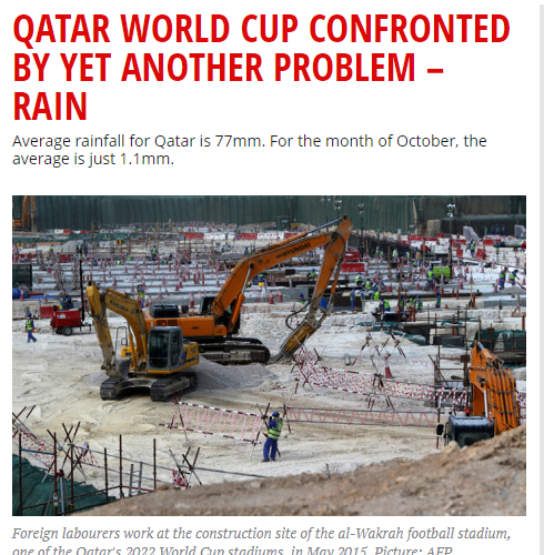 السيول تفضح قطر وتدعو لإعادة التفكير في تنظيمها لكأس العالم - المواطن