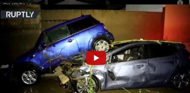 فيديو.. ارتفاع ضحايا فيضانات مايوركا إلى 12 قتيلاً