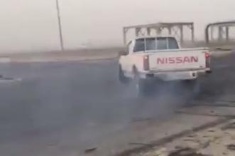 صور.. مفحط الشرقية والمركبة في قبضة الأمن - المواطن