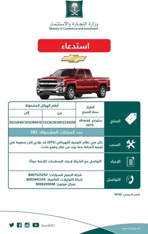 استدعاء 37 ألف سيارة من جنرال موتورز بسبب خلل كارثي - المواطن