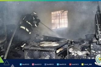 صور.. إصابة رجل وامرأة في حريق غرفة نوم بالقطيف - المواطن